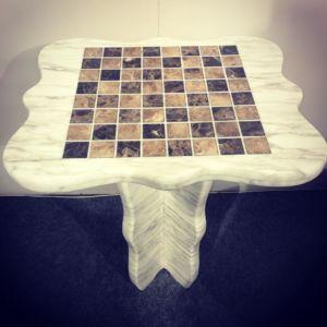 Table d'échec en marbre