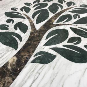 Motif table en marbre