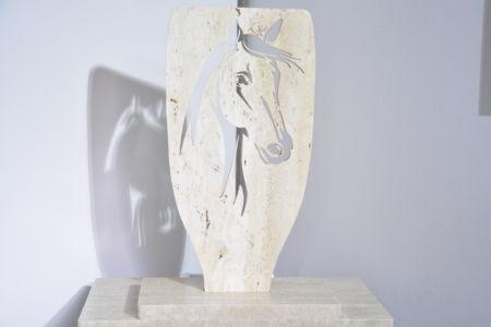 Cheval en marbre